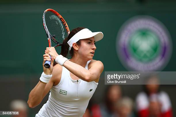 Christina McHale of the United States looks on during the Ladies Singles second round match against Serena Williams of The United States on day five...