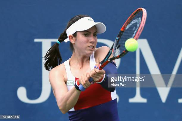Christina McHale of the United States returns a shot against Daria Kasatkina of Russia during their second round Women's Singles match on Day Four of...