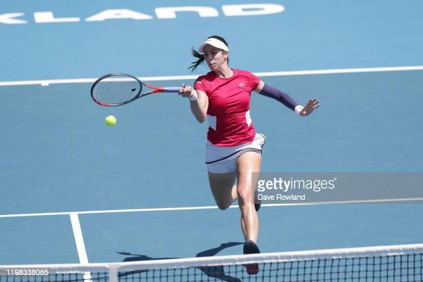 Christina McHale of the USA during her match against Serena Williams of the USA during day four of the 2020 Women's ASB Classic at ASB Tennis Centre...