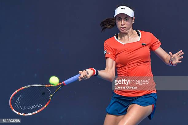 Christina Mchale of United States returns a shot against Daria Gavrilova of Australia during the Women's singles first round match on day three of...