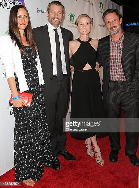 Christina McLarty actors James Tupper Anne Heche and David Arquette arrive at THE IMAGINE BALL at House of Blues Sunset Strip on August 6 2014 in...