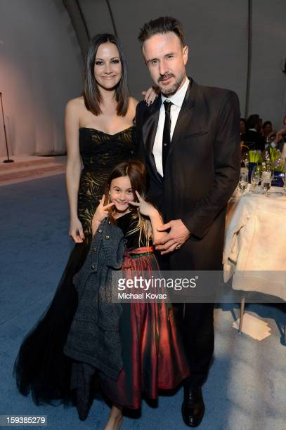 Christina McLarty, Coco Arquette, and actor David Arquette attend The Art of Elysium's 6th Annual HEAVEN Gala After Party presented by Audi at 2nd...