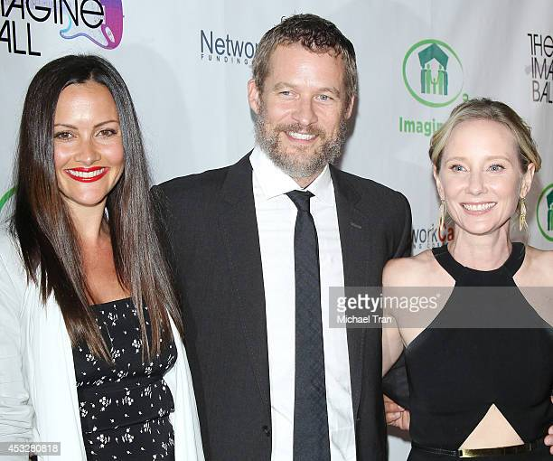 Christina McLarty James Tupper and Anne Heche arrive at The Imagine Ball held at House of Blues Sunset Strip on August 6 2014 in West Hollywood...