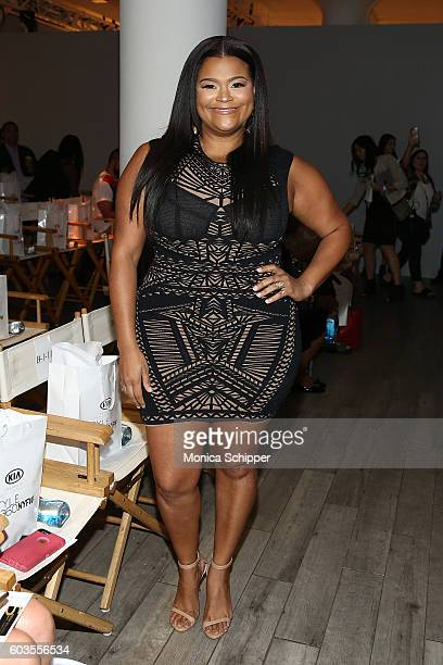 Christina Mendez attends the Serena Williams Signature Statement Collection By HSN during Style360 Fashion Week at Metropolitan West on September 12,...