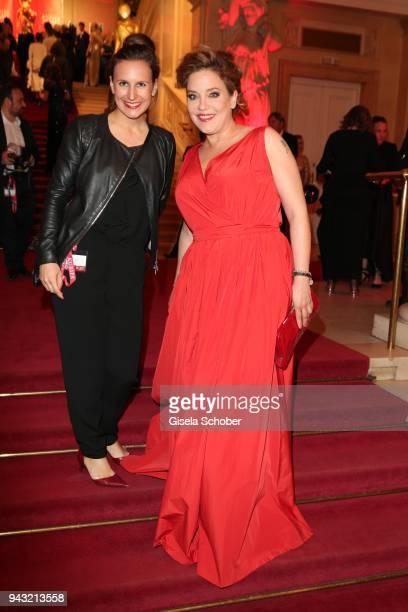 Christina Mendi, Editor Frau aktuell , Muriel Baumeister during the 29th ROMY award at Hofburg Vienna on April 7, 2018 in Vienna, Austria.