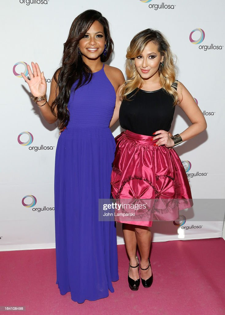 Christina Milian and Adrienne Bailon attend 'Skirts Only' Fashion Show at 404 NYC on March 19, 2013 in New York City.