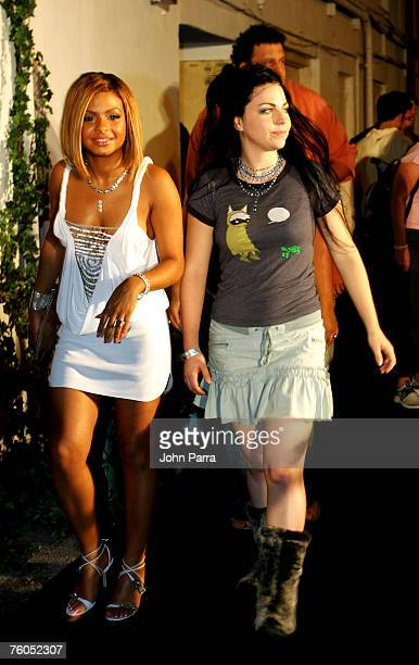 Christina Milian and Amy Lee of Evanescence