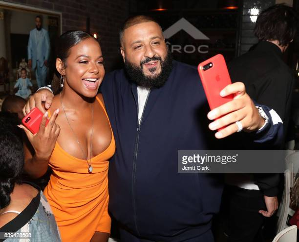 Christina Milian and DJ Khaled attend DJ Khaled 'Grateful' Platinum Celebration on August 25 2017 in Los Angeles California