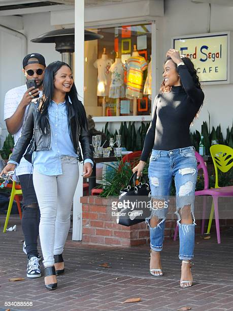 Christina Milian and Karrueche Tran are seen on May 24 2016 in Los Angeles California