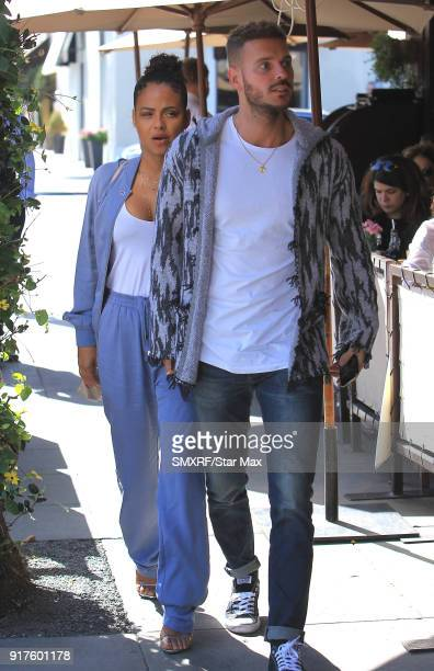 Christina Milian and M Pokora are seen on February 12 2018 in Los Angeles California