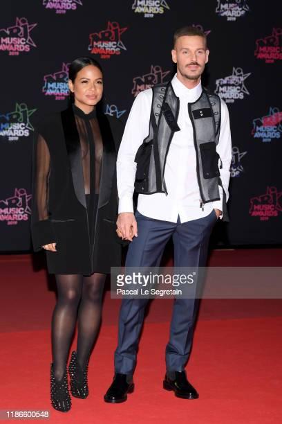 Christina Milian and Matt Pokora attends the 21st NRJ Music Awards at Palais des Festivals on November 09 2019 in Cannes France