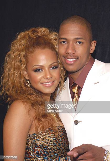 Christina Milian and Nick Cannon during 19th Annual Soul Train Awards Press Room at Paramount Studios in Hollywood California United States