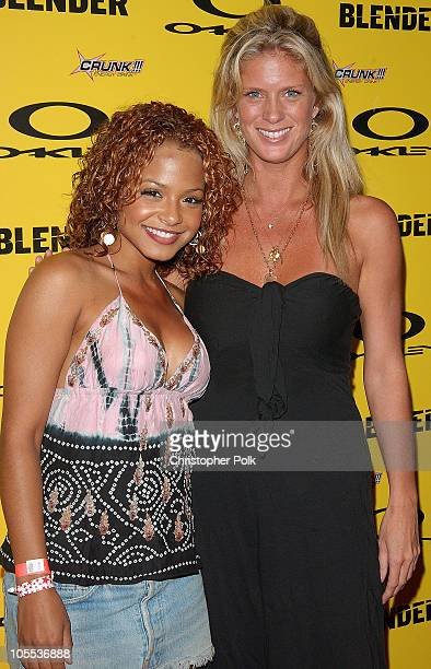 Christina Milian and Rachel Hunter during Blender/Oakley X Games Party - Arrivals at The Key Club in Los Angeles, California, United States.