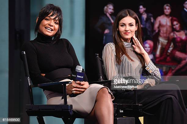 "Christina Milian and Victoria Justice attend The Build Series Presents: Victoria Justice & Christina Milian discussing ""The Rocky Horror Picture..."