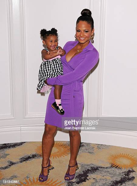 Christina Milian and Violet attend the Silver Rose Gala And Auction held at Beverly Hills Hotel on April 17, 2011 in Beverly Hills, California.