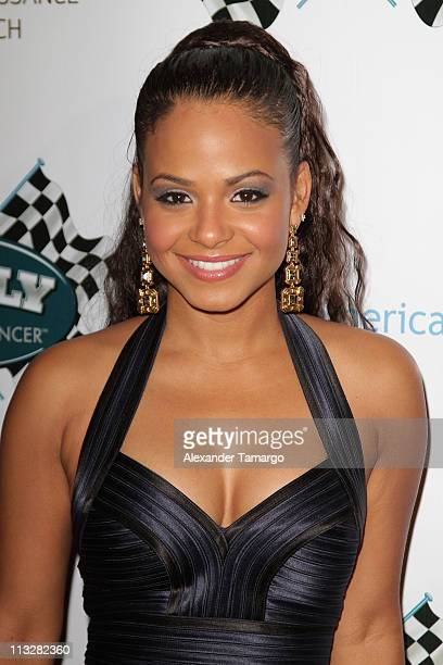 Christina Milian arrives at Rally for Kids with Cancer Scavenger Cup The Qualifiers Celebrity Draft Party at Eden Roc a Renaissance Beach Resort and...