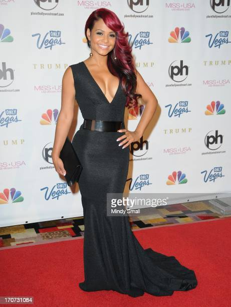 Christina Milian arrives at the 2013 Miss USA pageant at Planet Hollywood Resort Casino on June 16 2013 in Las Vegas Nevada