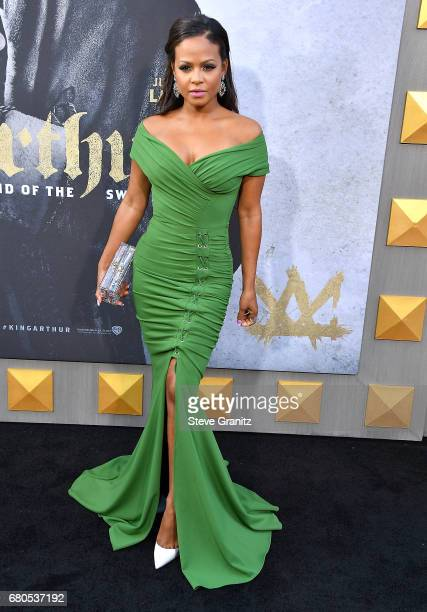 Christina Milian arrives at the Premiere Of Warner Bros Pictures' King Arthur Legend Of The Sword at TCL Chinese Theatre on May 8 2017 in Hollywood...