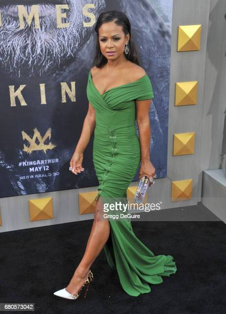 Christina Milian arrives at the premiere of Warner Bros Pictures' 'King Arthur Legend Of The Sword' at TCL Chinese Theatre on May 8 2017 in Hollywood...