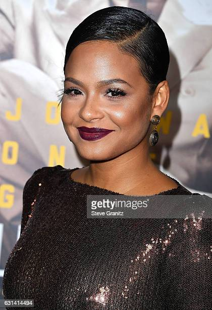 """Christina Milian arrives at the Premiere Of Warner Bros. Pictures' """"Live By Night"""" at TCL Chinese Theatre on January 9, 2017 in Hollywood, California."""