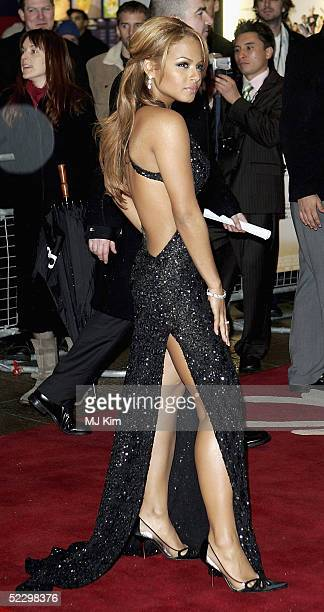 Christina Milian arrives at the UK Premiere of Be Cool at the Empire Leicester Square on March 7 2005 in London The film is the followup to Get...