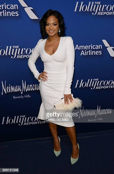 Christina Milian arrives for the Hollywood Reporter's 4th Annual Academy Awards Nominees Night in Beverly Hills California February 8 2016 / AFP /...