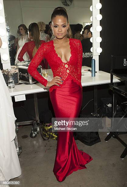 Christina Milian attends 1st Annual Runway Wonderland Children's Benefit By Trina's Kids Foundation at Hubble Studio on December 10 2014 in Los...