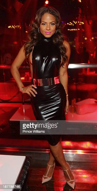 Christina Milian attends a party at Prive on November 11 2013 in Atlanta Georgia