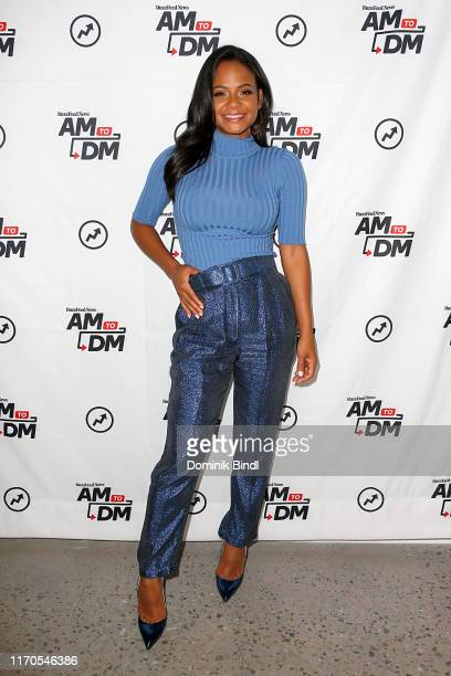 """Christina Milian attends BuzzFeed's """"AM To DM"""" on August 27, 2019 in New York City."""