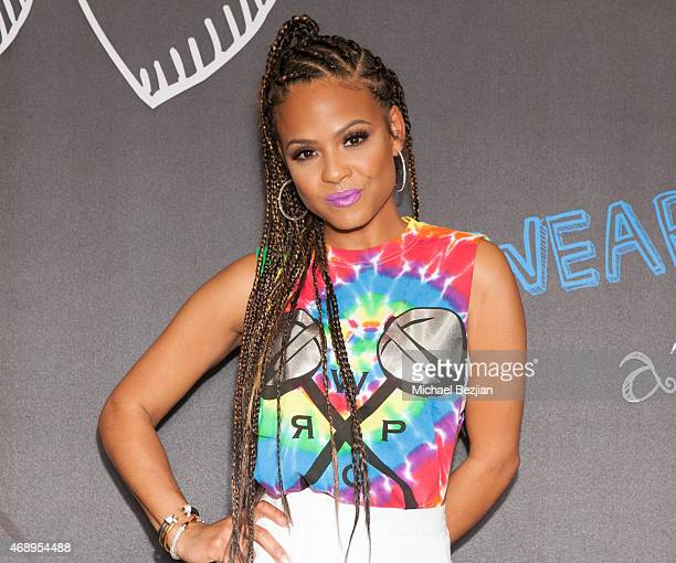 Christina Milian attends Christina Milian Brings We Are Pop Culture To Shiekh Shoes on April 8 2015 in West Hollywood California