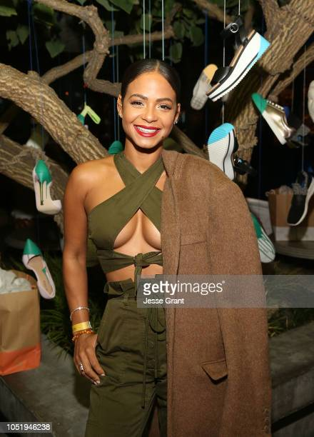 Christina Milian attends NYLON's Annual It Girl Party at The Ace Hotel Sponsored By Call It Spring on October 11 2018 in Los Angeles California