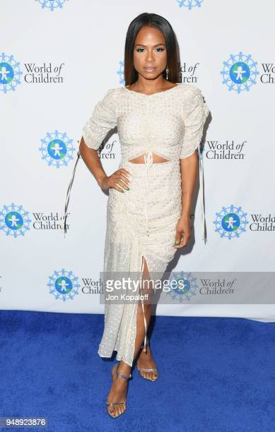 Christina Milian attends the 2018 World Of Children Hero Awards at Montage Beverly Hills on April 19 2018 in Beverly Hills California