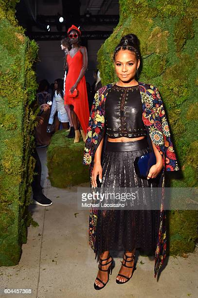 Christina Milian attends the Alice Olivia by Stacey Bendet Spring/Summer 2017 Presentation during New York Fashion Week September 2016 at Skylight at...