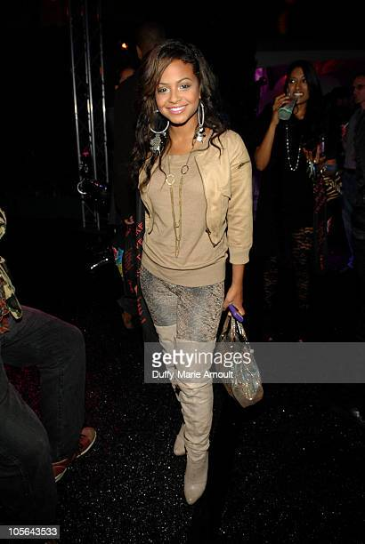 Christina Milian attends the Los Angeles Fashion Week Spring/Summer 2011WTB Collection on October 17 2010 in Hollywood California
