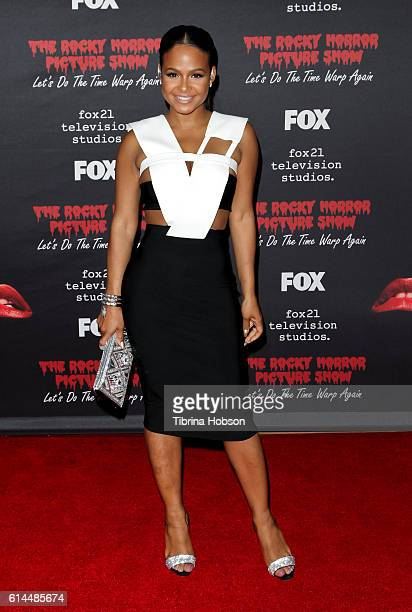 Christina Milian attends the premiere of Fox's 'The Rocky Horror Picture Show Let's Do The Time Warp Again' at The Roxy Theatre on October 13 2016 in...