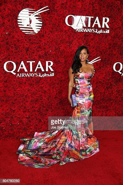 Christina Milian attends the Qatar Airways Los Angeles Gala at Dolby Theatre on January 12 2016 in Hollywood California