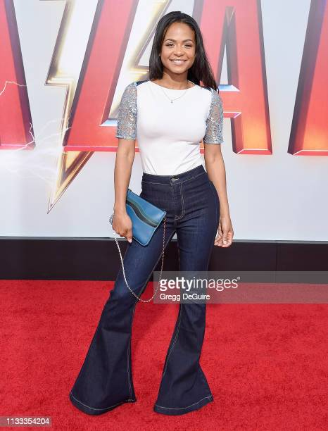 Christina Milian attends Warner Bros Pictures And New Line Cinema's World Premiere Of SHAZAM at TCL Chinese Theatre on March 28 2019 in Hollywood...