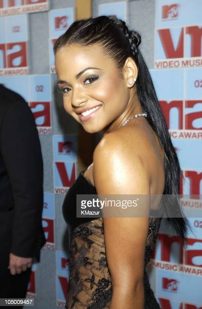 Christina Milian during 2002 MTV Video Music Awards Arrivals at Radio City Music Hall in New York City New York United States