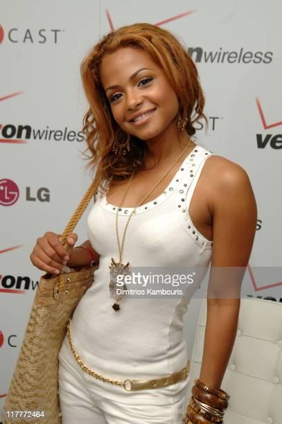 Christina Milian during 2005 MTV VMA Verizon Wireless V CAST Suite Day 1 at Style Villa at the Sagamore Hotel in Miami Florida United States