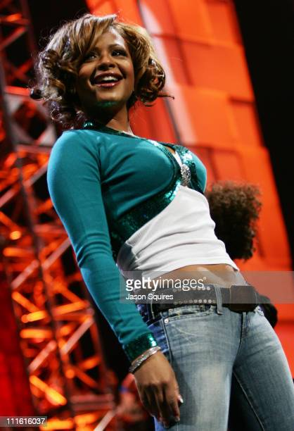 "Christina Milian during ""American Top 40 Live"" Pre-Taping at KIIS FM ""Jingle Ball"" Concert 2004 at Arrowhead Pond in Anaheim, California, United..."