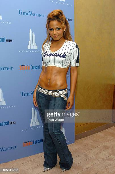 Christina Milian during AOL Music Summer Concert Series with Christina Milian - Concert and Reception at Time Warner Center in New York City, New...