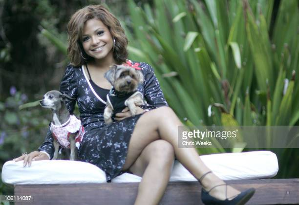 Christina Milian during Cesar Canine Cuisine - Inside at Private Residence in Beverly Hills, California, United States.