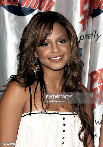 """Christina Milian during Christina Milian and Kristen Bell Appear at Planet Hollywood for Handprint Ceremony and to Promote New Film """"Pulse"""" at Planet..."""