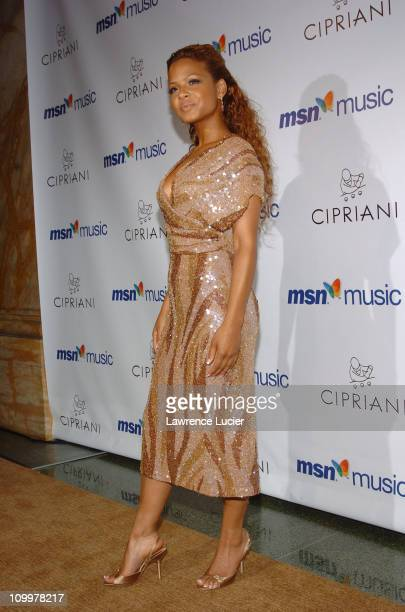 Christina Milian during Mariah Carey's Album Release Party for The Emancipation of Mimi at Ciprianis 5th Avenue in New York City, New York, United...