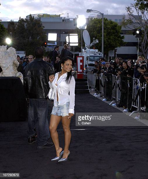 Christina Milian during The Matrix Reloaded Premiere Black Carpet at Mann Village Theater in Westwood California United States