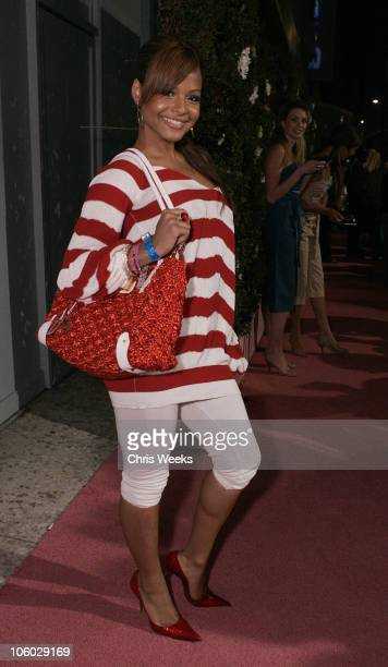 Christina Milian during TMobile Sidekick 3 Launch Party Red Carpet at The Paladium in Hollywood California United States