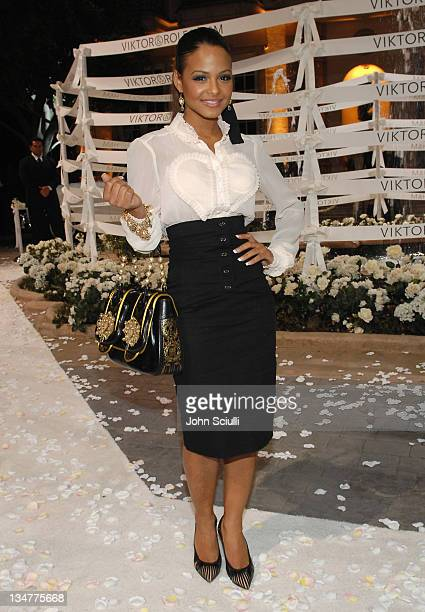 Christina Milian during Viktor Rolf Celebrates The Launch of Their Collection for HM Red Carpet at Private Residence in BelAir California United...
