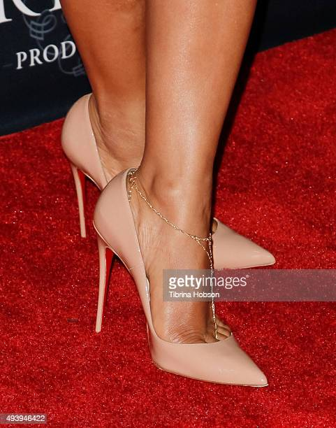 Christina Milian fashion detail attends Star Magazine's Scene Stealers party at W Hollywood on October 22 2015 in Hollywood California