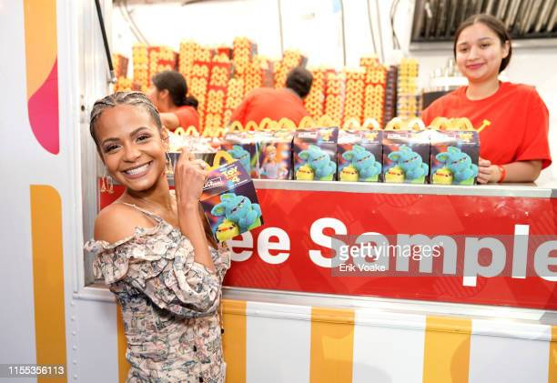 Christina Milian is seen as McDonald's treats guests to Happy Meals at the Toy Story 4 Premiere After Party at El Capitan Theatre on June 11 2019 in...