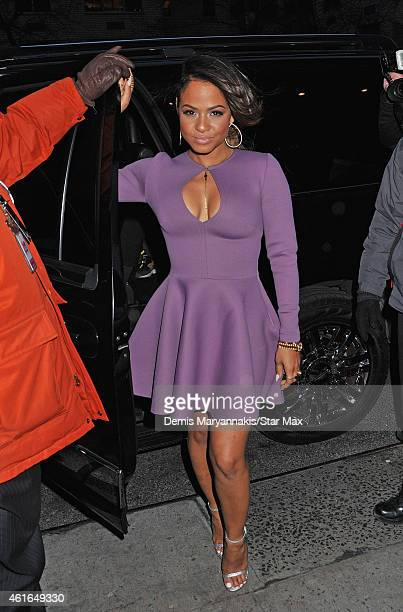 Christina Milian is seen on January 16 2015 in New York City